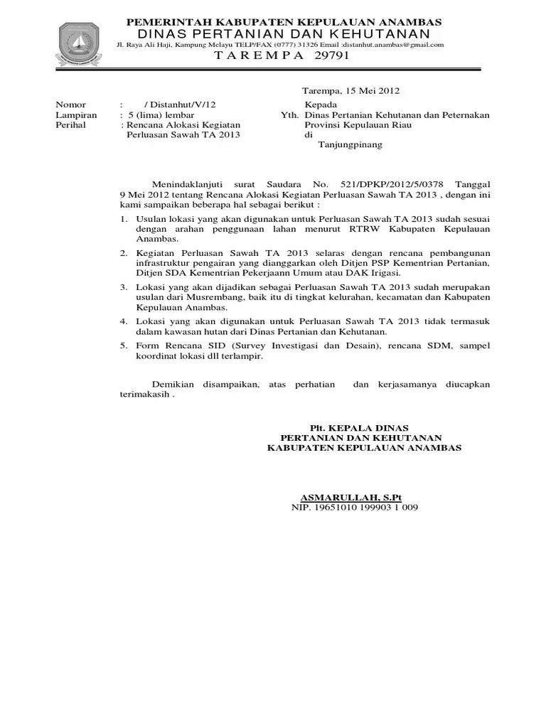 5. Surat Balasan Resmi