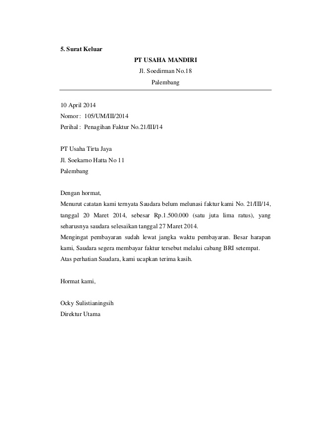 7. Contoh Surat Masuk Pdf
