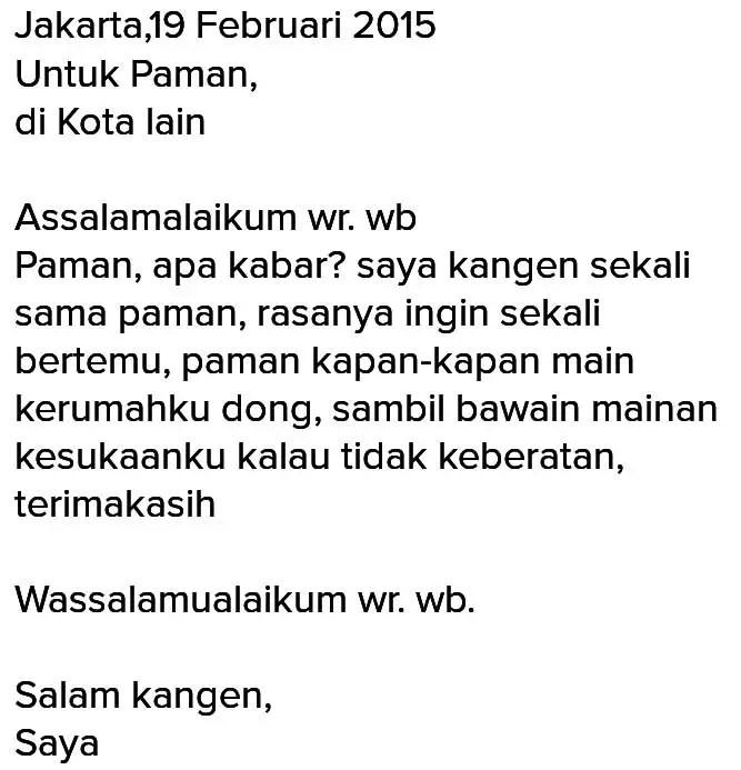 8. Contoh Surat Untuk Sahaba Dalam Bahasa Jawa