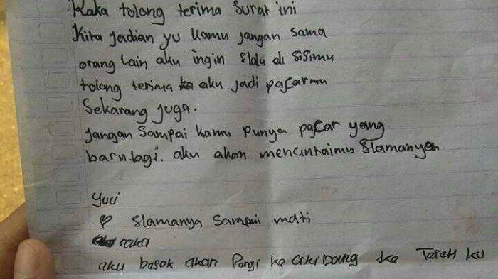 2. Contoh Surat Cinta Untuk Pacar Laki Laki