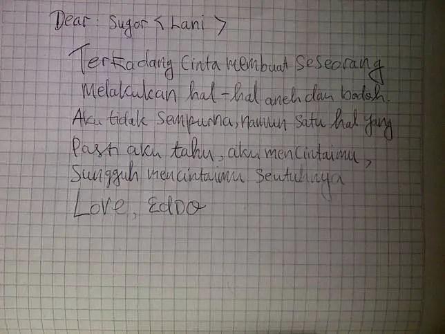 4. Contoh Surat Cinta Lucu Ala Anak Ekonomi