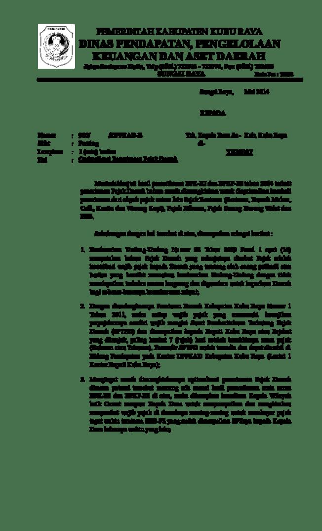 4. Contoh Surat Himbauan Pajak
