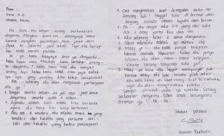 4. Surat Untuk Sahabat Pena Di Luar Negeri