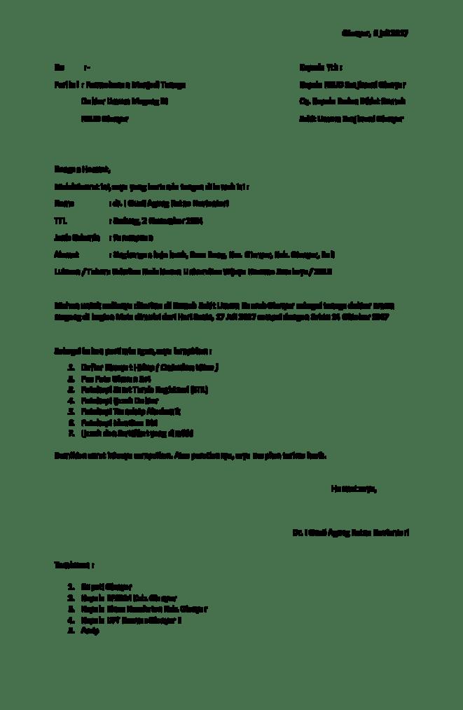 6. Contoh Surat Permohonan Magang Di Rumah Sakit