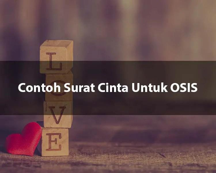 Contoh Surat Cinta Untuk OSIS