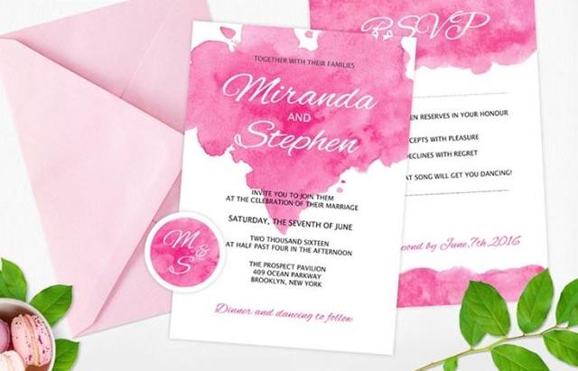 Contoh Kartu Undangan Pernikahan Simpel dan Romantis