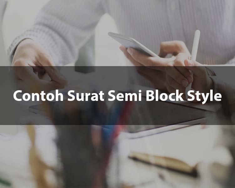 Contoh Surat Semi Block Style