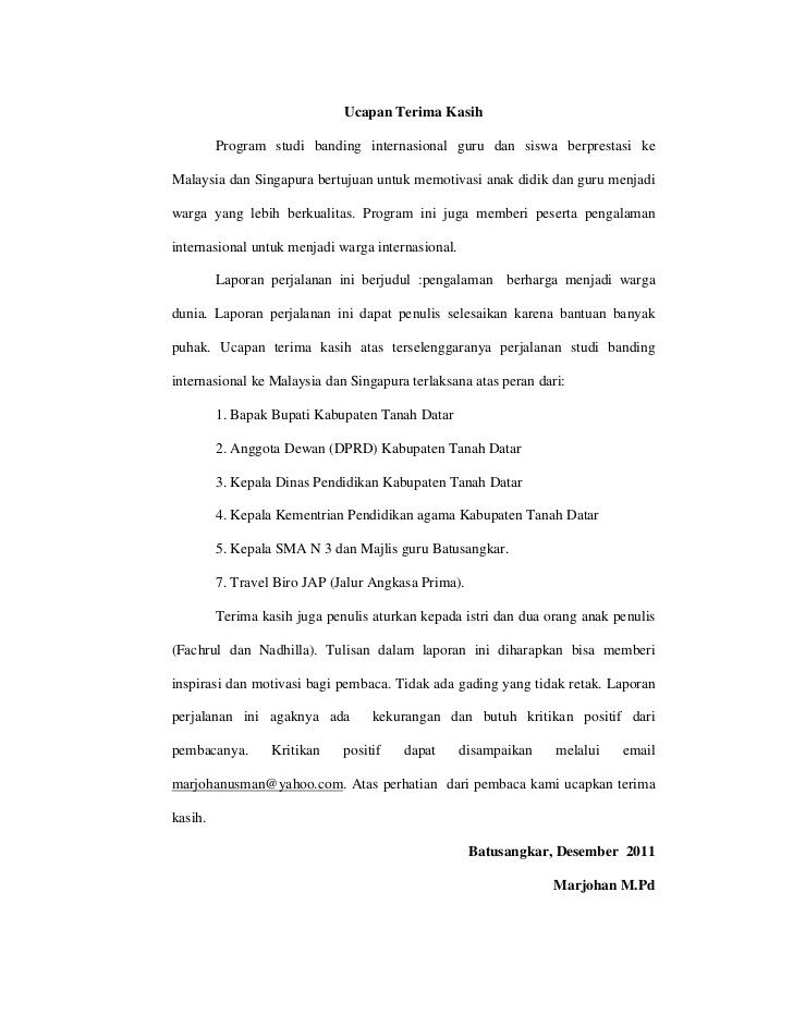 5. Surat Ucapan Terima Kasih Untuk Guru