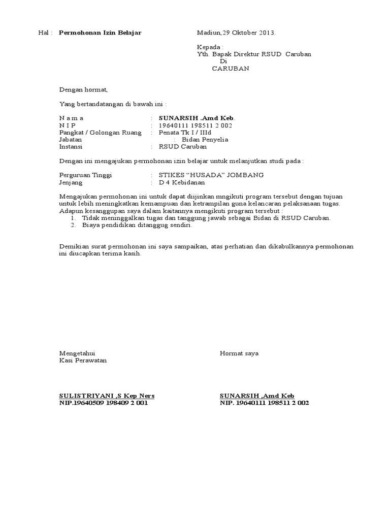 2. Contoh Surat Permohonan Izin