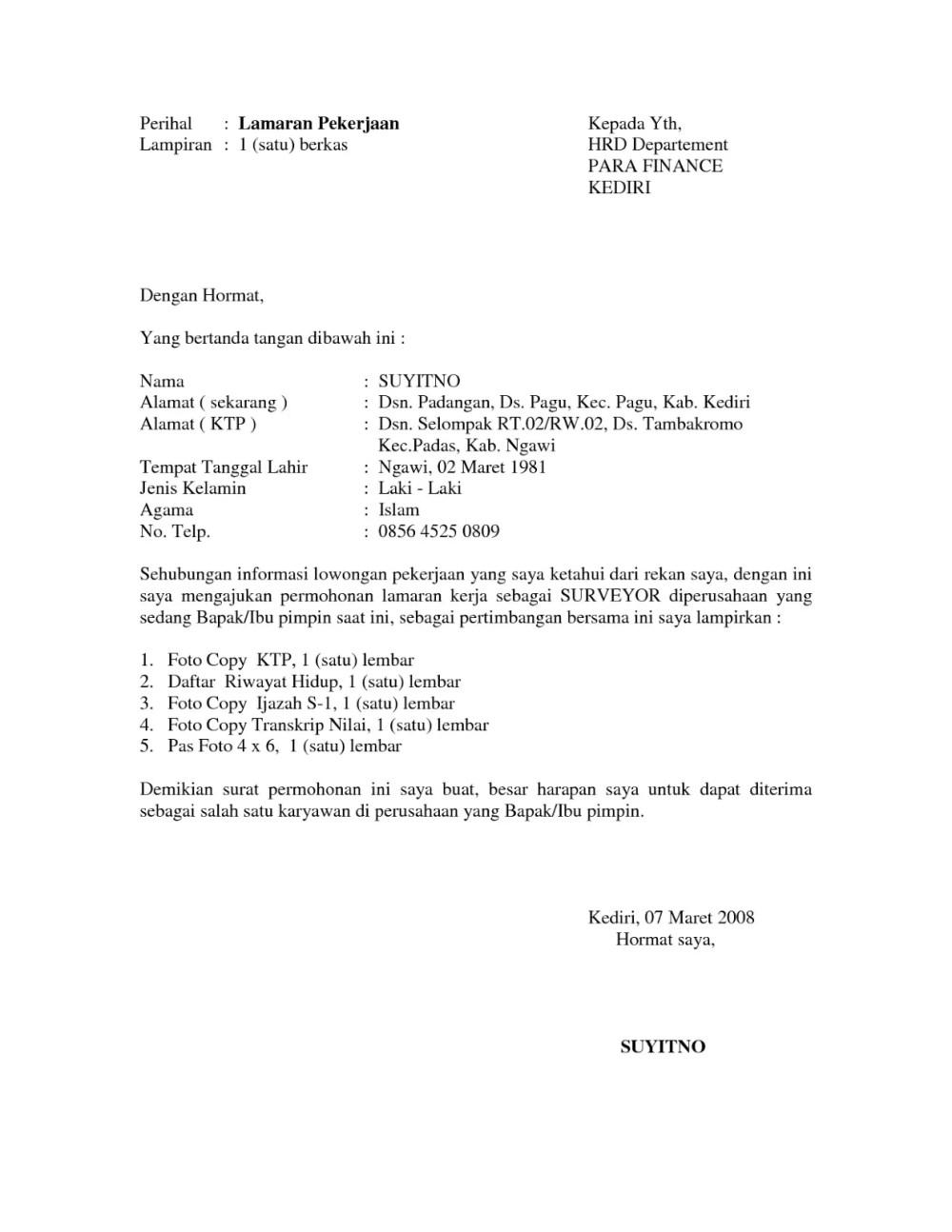 39++ Contoh surat resmi melamar pekerjaan terbaru terbaru