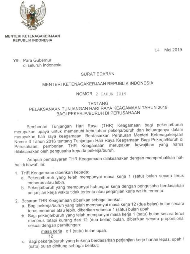 11. Contoh Surat Edaran Pemerintah