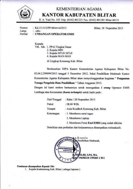 13. Contoh Surat Undangan Resmi Dinas