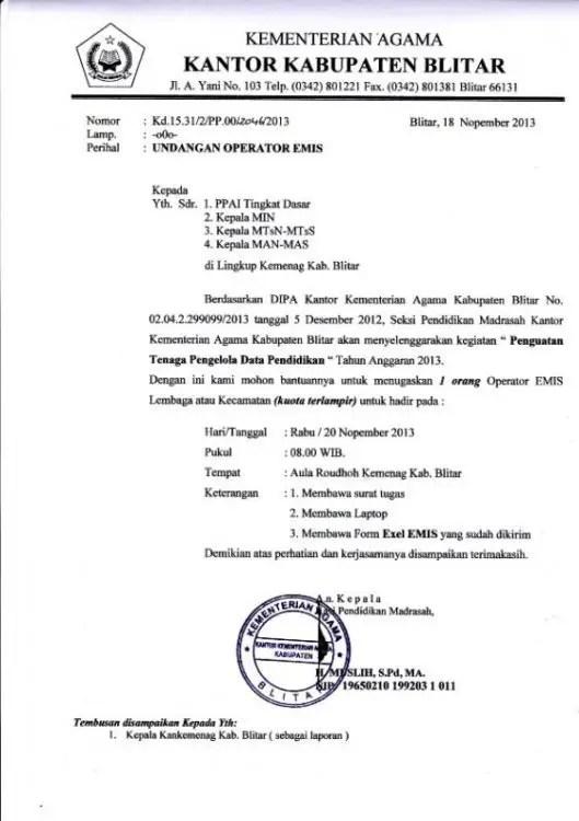 15. Contoh Undangan Resmi Pemerintah