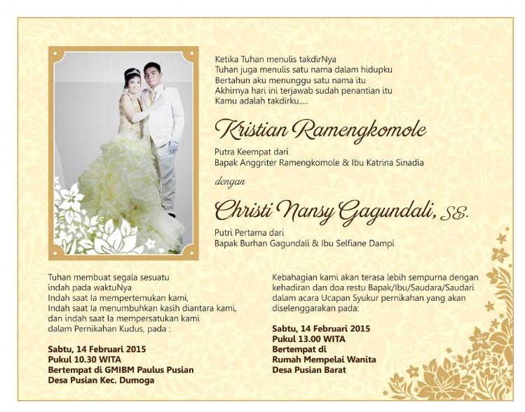 7. Contoh Surat Undangan Pernikahan