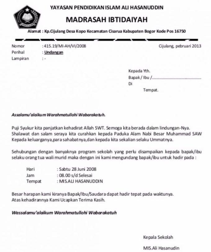 7. Contoh Surat Undangan Rapat Desa