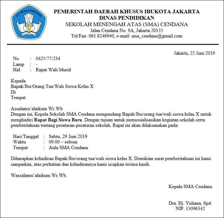 50++ Contoh surat dinas undangan rapat terbaru terbaru