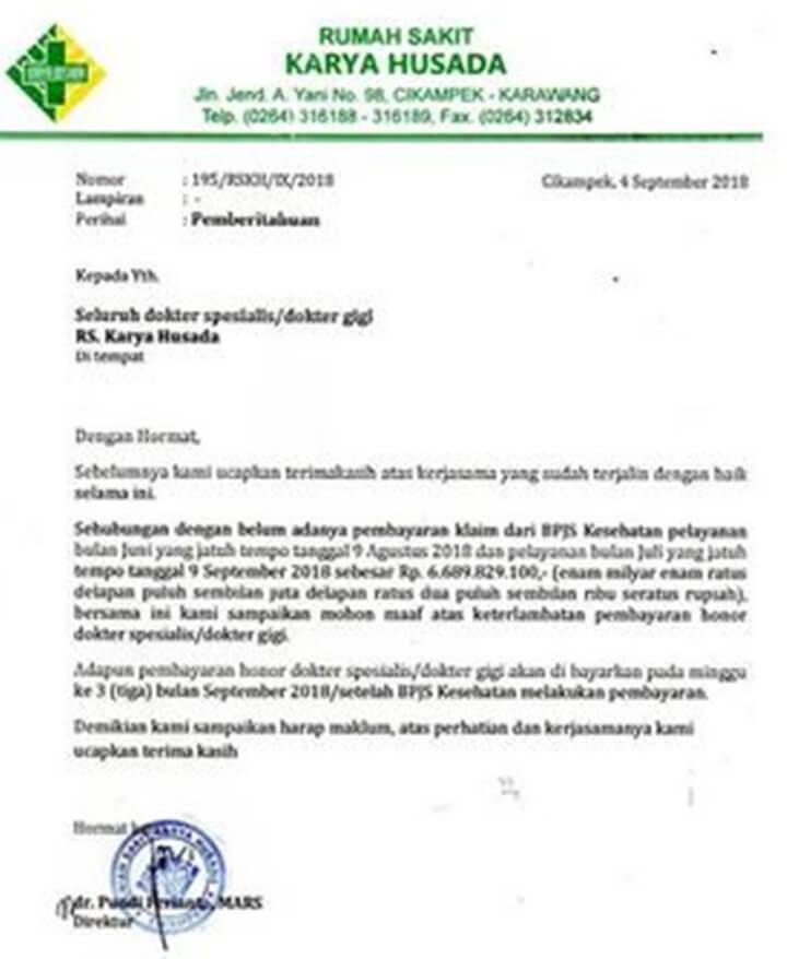 Surat Permohonan Maaf Keterlambatan Gaji