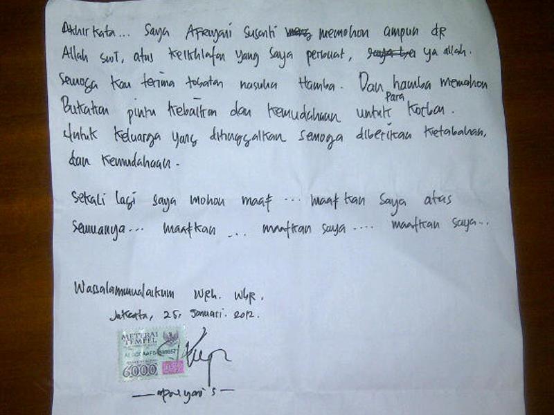 1. Contoh Surat Tidak Resmi Untuk Teman Berisi Permohonan Maaf