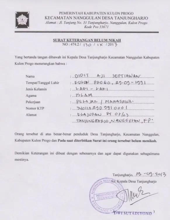 14. Contoh Surat Keterangan Kerja Untuk Kuliah Mengenai Kegiatan