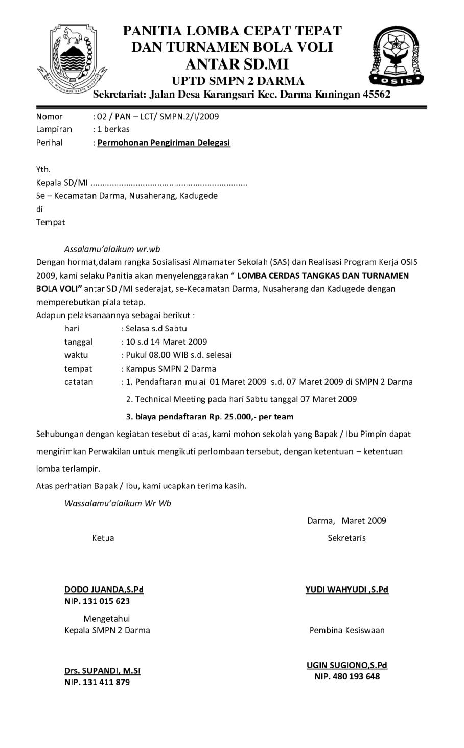 15. Contoh Surat Pemberitahuan Sekolah