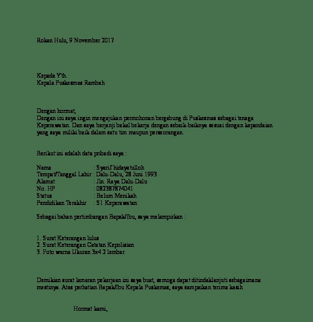 15. Contoh Surat Pengalaman Kerja Perawat