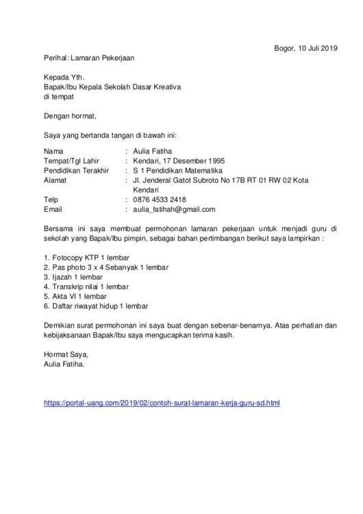 2. Contoh Surat Pengalaman Kerja