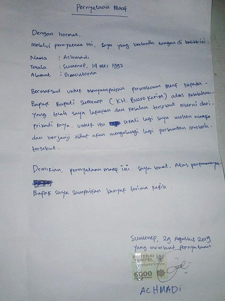 4. Contoh Surat Pribadi Untuk Guru Berisi Permintaan Maaf