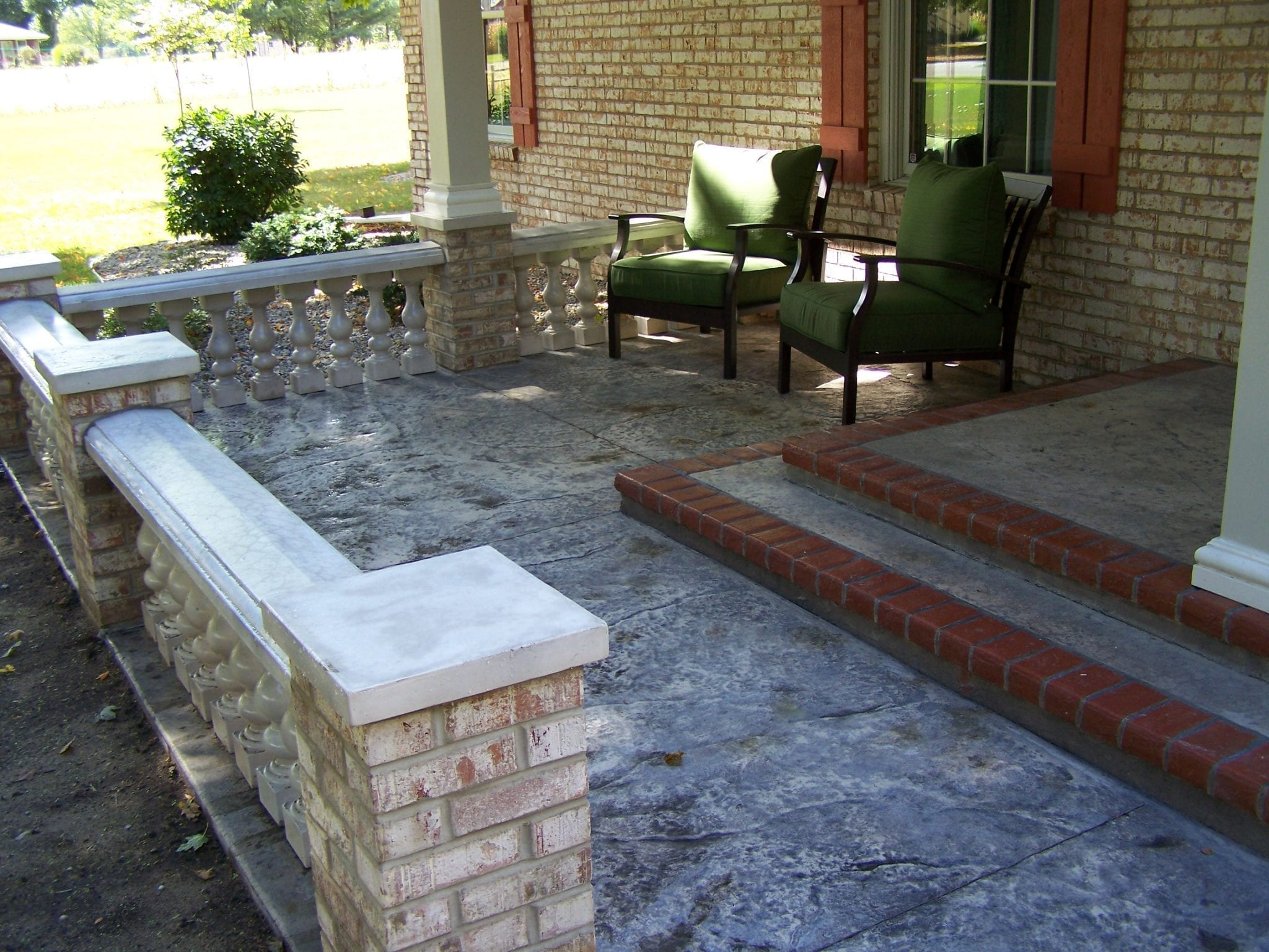 Concrete Front Porch Makeover - Baluster & Floor Designs on Concrete Front Yard Ideas id=72208