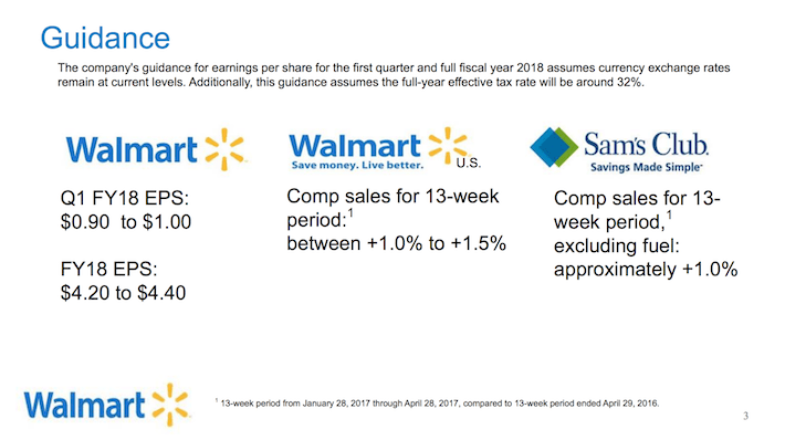 WMT Guidance