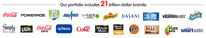 KO Our Portfolio Includes 21 Billion-Dollar Brands