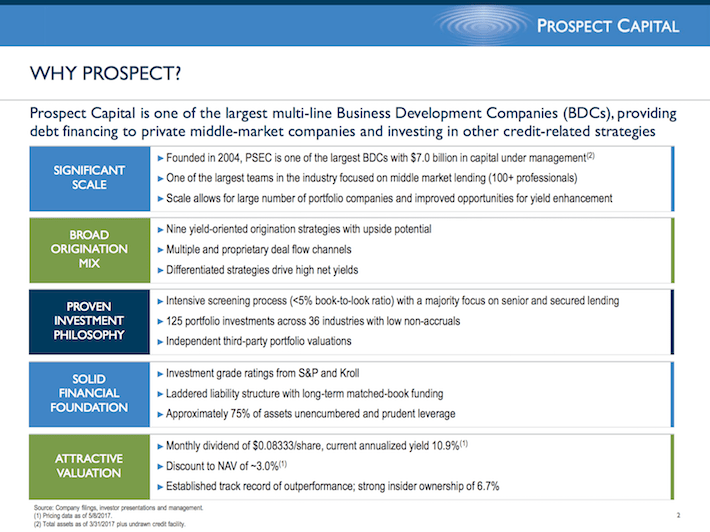 PSEC Prospect Capital Why Prospect?