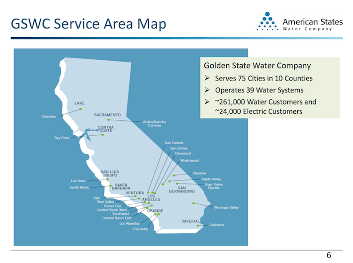 AWR American States Water GSWC Service Area Map