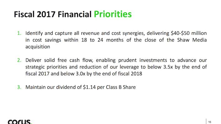 CJREF Fiscal 2017 Financial Priorities