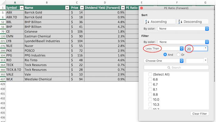 Materials Stocks Excel Tutorial 7