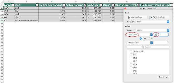 Dow Jones Excel Tutorial 4