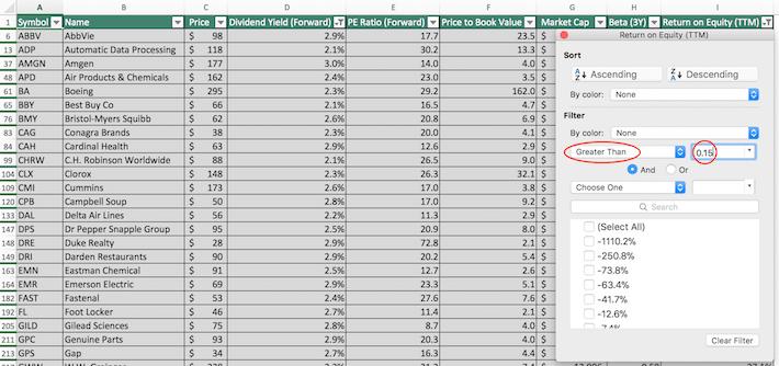S&P 500 Stocks Excel Tutorial 10