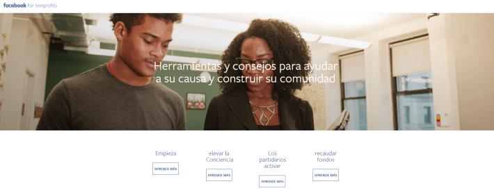 Facebook lanza su Página Web para ONG´s