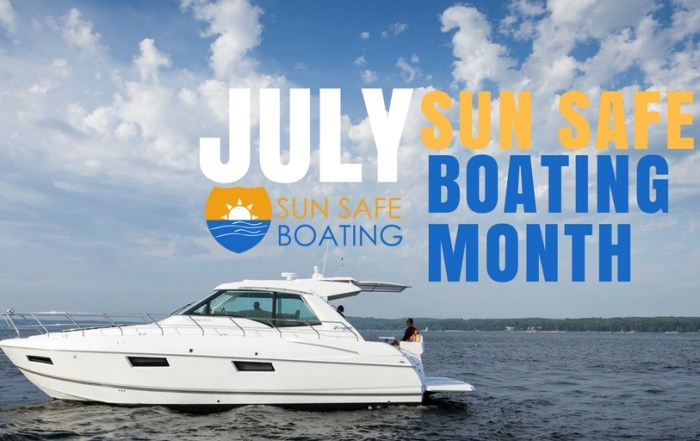 sun safe boating month