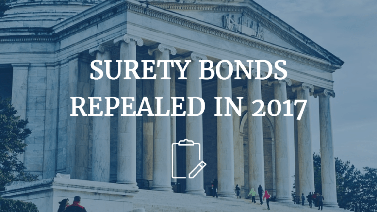 surety bonds repealed