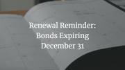 bond renewal calendar