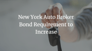 New York auto broker giving keys