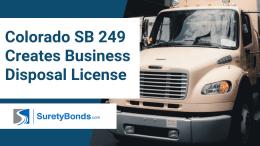 Colorado SB 249 Creates Business Disposal License