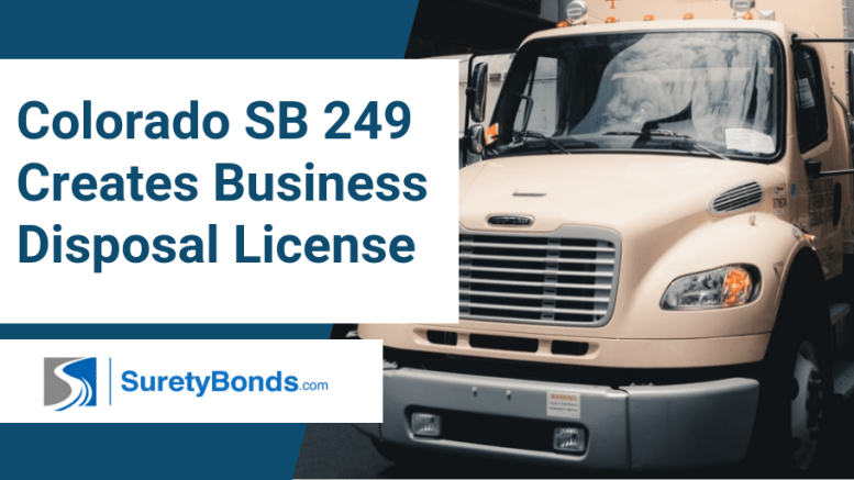 Colorado SB 249 Creates Business Disposal License