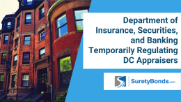Department of Insurance, Securities, and Banking Temporarily Regulating DC Appraisers