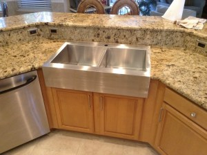 drop in sink, granite, granite countertops, granite modifications, sink replacement, sink upgrade, sink replace, undermount sink, surface link, kitchen, sink, home, stainless steel sink, apron sink