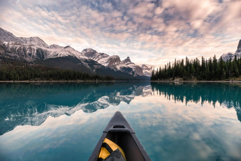 Kayak with beautiful view