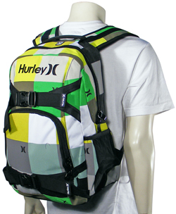 Hurley Honor Roll Backpack - Green / Yellow For Sale at ...