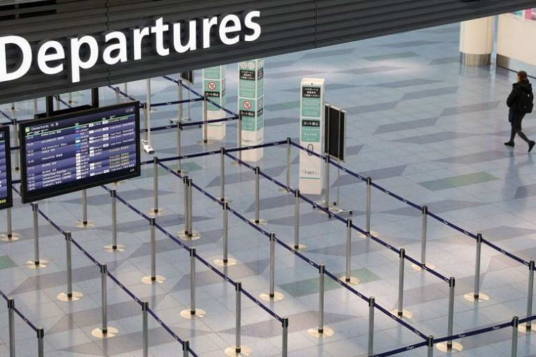 Cancellations sees airports deserted for months