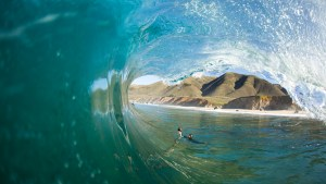 Except this one that I body surfed. That's Chachi [Ryan Craig] about to take a photo of me. Profile pic.