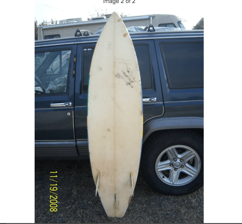 Is this the best Craigslist used surfboard ad of all time?